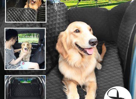 Pecute Coprisedile Auto per Cani Impermeabile Antiscivolo Grande Morbido con Protezioni Laterali