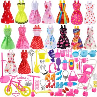 114pz Accessori per Barbie Scarpe Bambole Abbigliamento e