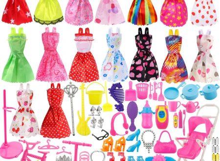 114pz Accessori per Barbie Scarpe Bambole Abbigliamento e Essenziale oggetto domestico Accessori gioielli Mini Carina Gonna per Bambole Barbie
